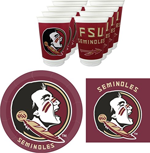 Westrick Florida State Seminoles Party Pack - 48 Pieces (Serves 16) -