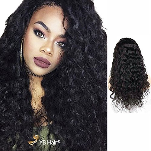 Yb Hair 360 Lace Wigs   Human Hair Virgin 130  Density Brazilian Remy 100  Human Hair Loose Wave Wigs With Baby Hair For Black Women 16  In Stock
