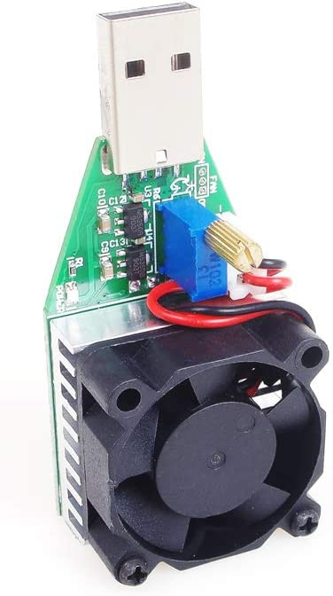 ANGEEK Mini USB 0.15A-3A Electronic Load Tester Module Adjustable Constant Current for 3.7V~13V 15W Continuous Discharge Intelligent