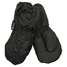 Toddler Boy's (2 - 4) Long Thinsulate Lined / Wateproof Ski Mittens (Black)