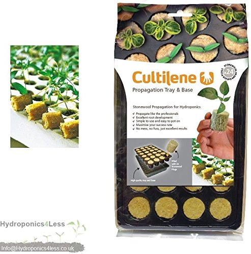 Root it 24 Cultilene Propagation Insert & Trays Starter Plug Seed Cutting Base (Cultilene 24 Cell Tray) hydroponics4less