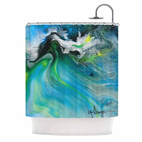 """Kess InHouse Carol Schiff """"Turquoise and Green Abstract"""" ..."""