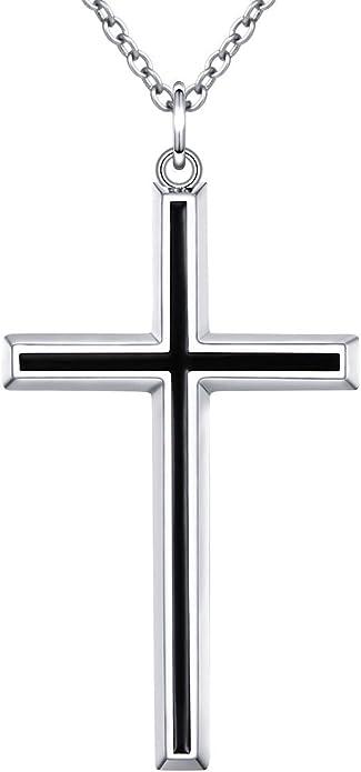 Petite croix simple pendentif en solide argent sterling 925-Choix de chaînes!