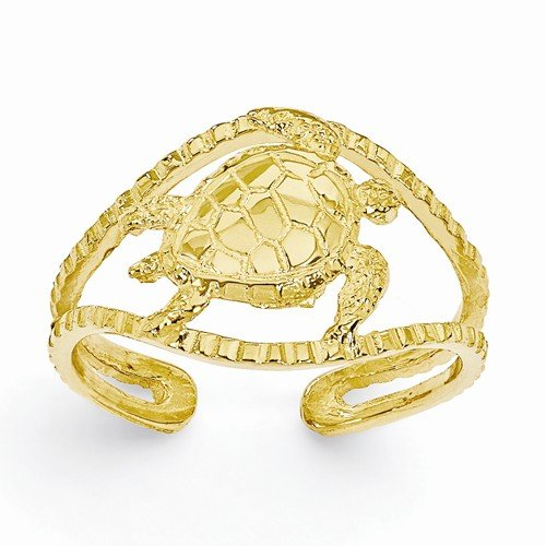 Solid 14k Yellow Gold Turtle A