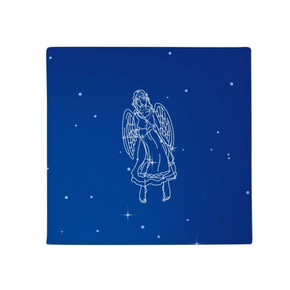 DIYthinker Star Universe Virgo Constellation Pattern Anti-Slip Floor Pet Mat Square Home Kitchen Door 80Cm Gift
