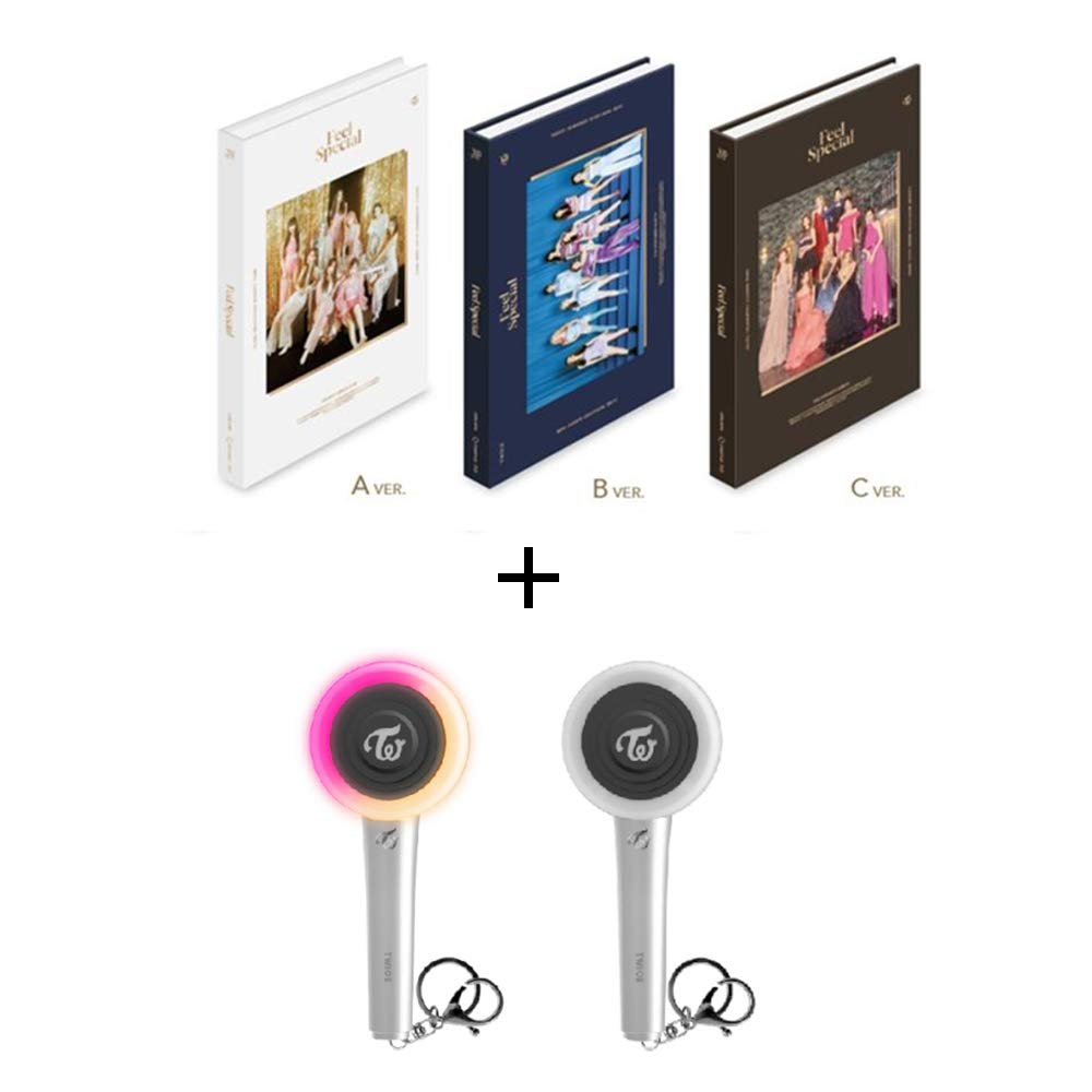 Twice 8th Mini Album Feel Special lightstick Keyring Set (Incl. Pre-Order Benefits, One Random Arcylic Photocard) (B Ver) by Twice