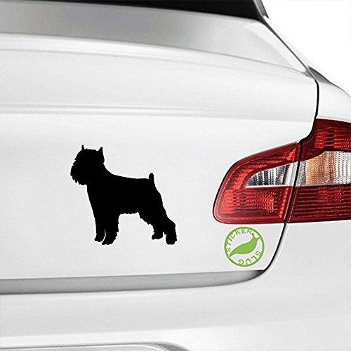 Brussels Griffon Dog Decal Sticker (black, 5 inch)