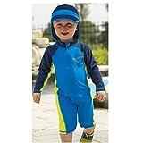 Sun Smarties Toddler Boys UPF 50+ Shark One Piece