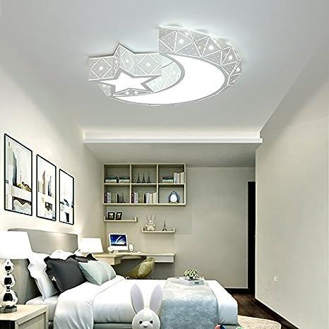 LightInTheBox Chic & Modern LED Flush Mount Ceiling Light Chandeliers Moon  Star Shape Lighting for Living Room Bedroom Kids Room 960lm Bulb Included  ...