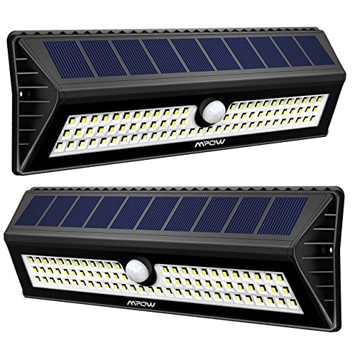 Mpow Solar Lights Outdoor, 77 LED Bright Motion...