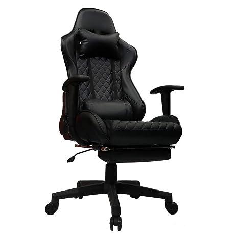 kinsal Gaming Chair, ejecutivo ordenador silla respaldo alto) ergonómico silla de escritorio Racing silla