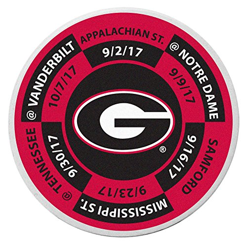 NCAA Georgia Bulldogs Schedule Golf Ball Marker Coin Georgia Bulldogs Ball