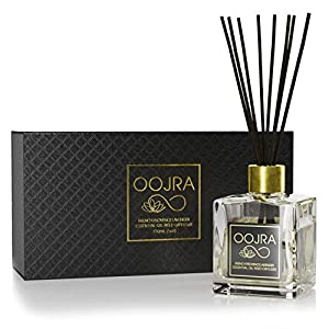 OOJRA Essential Oil Reed Diffuser Gift Set, Glass Bottle, Reed Sticks, Natural Scented Long Lasting Fragrance Oil (3+ Months 4 oz) for Aromatherapy and Air Freshener 66