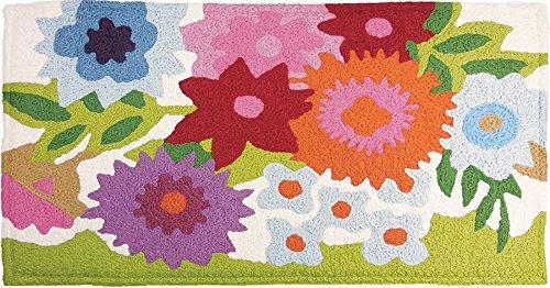 "Flowery Garden with Memory Foam Bigbean 20"" x 40"" Jellybean"