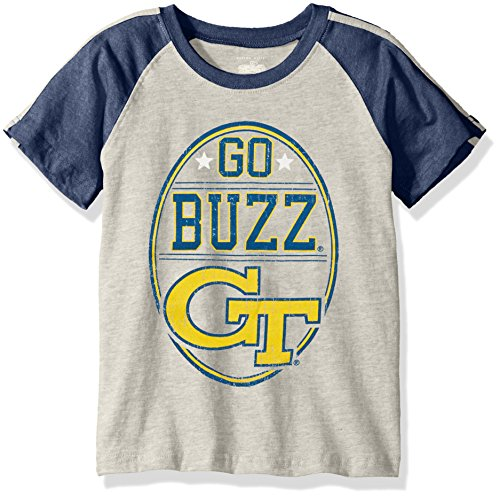 - NCAA Boys Raglan Short Sleeve Stripe Tee,Georgia Tech Yellow Jackets,Midnight,5