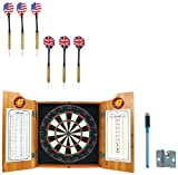NCAA Central Michigan University Wood Dart Cabinet Set