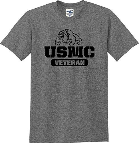 United States Marines Corps USMC Veteran Bulldog T-Shirt (S-5X) (XX-Large, Graphite Heather) (Marines Usmc Bulldog)