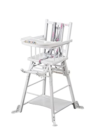 Combelle Marcel Chaise Transformable Barreaux Laquee Blanche