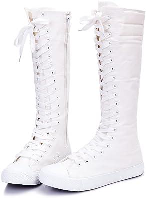 Dancing Canvas Knee-high Boots   Knee-High