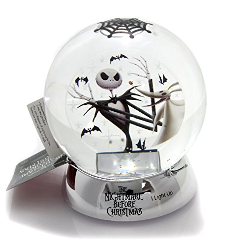 Classic Brands Nightmare Before Christmas Jack with Zero Waterball Snowglobe, 4.63