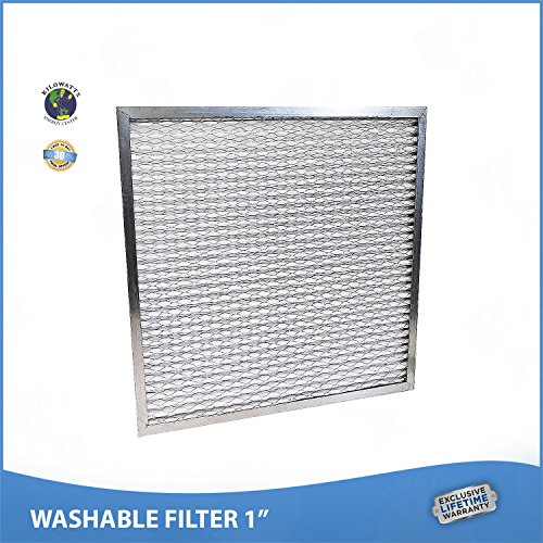 17x22x1 Washable Permanent A/C Furnace Air Filter. Low Air Resistance by Kilowatts Energy Center
