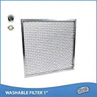 17x22x1 Washable Permanent A/C Furnace Air Filter. Low Air Resistance