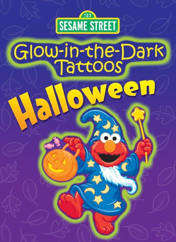 Sesame Street Glow-in-the-Dark Tattoos Halloween (Sesame Street Tattoos) (English and English Edition) -