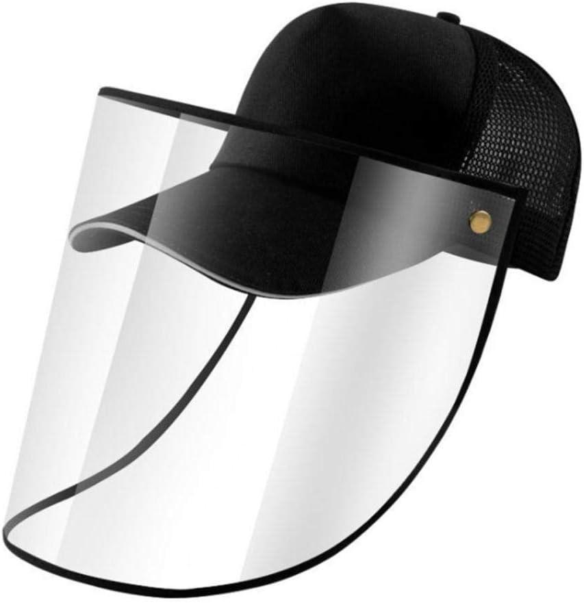 RMEX /Écran Facial d/étachable Anti-pulv/érisation Casquette de Protection /à visi/ère Casquette de Baseball S/écurit/é Anti-poussi/ère A