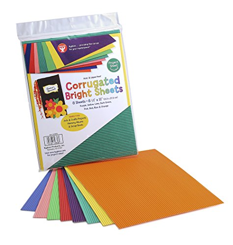 Hygloss Products Corrugated Cardboard in Assorted Colors - 8.5