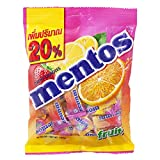 Mentos Chewy Mints, Assorted Fresh Mixed Fruit Variety Candy Orange Strawberry Lime Lemon Candies 118.8g, (44 Pieces)