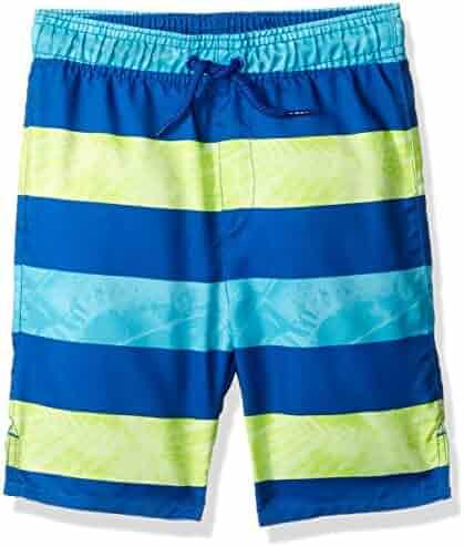 The Children's Place Baby-Boys' Li'l Guy's Striped Trunks Swim Shorts