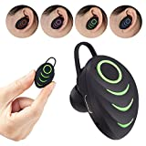 iPhone X Bluetooth Single Earbud, Wireless Noise Isolating Earphone with Mic Hands-Free Call Function for Car Driving, Invisible Sweatproof Headphone for Galaxy S9+/S8/Note8,iPhone 8/7 Plus - Green