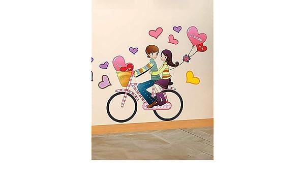 Cartoon WYJ Bicycle decorativos adhesivos: Amazon.es: Hogar