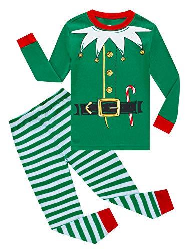 Kids Elf Pajamas (Cadidi Dinos Christmas Elf Cosplay Baby Girls Boys Pjs 100% Cotton Long Sleeve Kids Infant Pajamas Sets Size 12-18 Months)