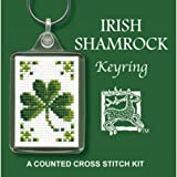 Irish Shamrock Ireland Keyring Cross Stitch Kit By Textile Heritage by Textile Heritage