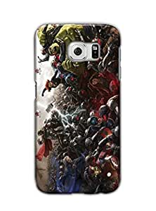 Tomhousomick Custom Design The Avengers Spider-Man Captain America The Hulk Thor Ant-Man Black Widow Iron Man Case Cover for Samsung Galaxy S6 G9208 G9209 G9200 2015 Hot Fashion Style