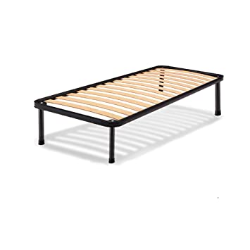 buy popular dee18 bd1bf AILIME SRL Single Iron Bed Frame with Orthopaedic Beech ...