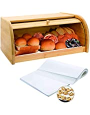 Bamboo Bread Box by MUNSHIRE Wooden Box Bread Storage Bread Basket for Kitchen Counter Large Capacity Bread Holder