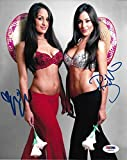 Nikki Brie The Bella Twins Signed WWE 8x10 Photo COA Total Divas Auto 10 - PSA/DNA Certified - Autographed Wrestling Photos