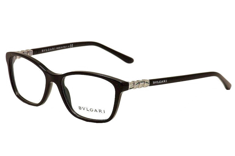Amazon.com: Bvlgari Women\'s BV4126B Eyeglasses Black 53mm: Clothing