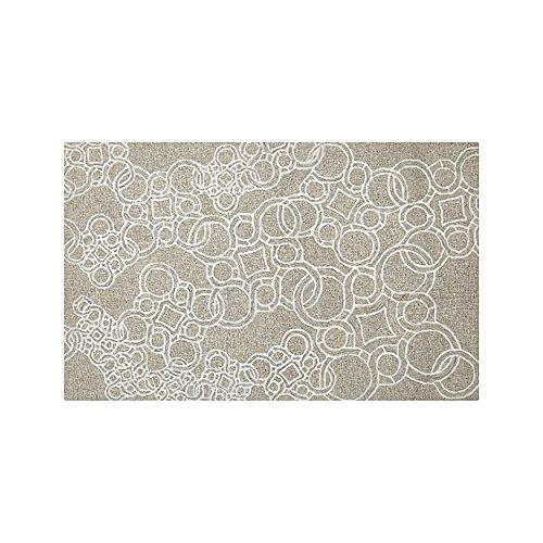 (CREAT and Barrel OBI Natural Modern Circle Pattern Handmade Wool Area Rug/Carpet (Wool & Wool Blend, 8.0x10.0ft))
