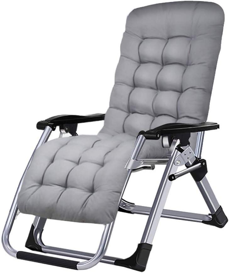 折りたたみデッキチェアリクライニングチェアチェア背もたれアームチェアビーチサンラウンジャーガーデンチェアキャンプ折りたたみチェアホームオフィス睡眠椅子妊娠中の女性リクライニングチェア (色 : White-B)