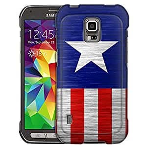 Samsung Galaxy S5 Active Case, Slim Fit Snap On Cover by Trek America Star Stripes Case