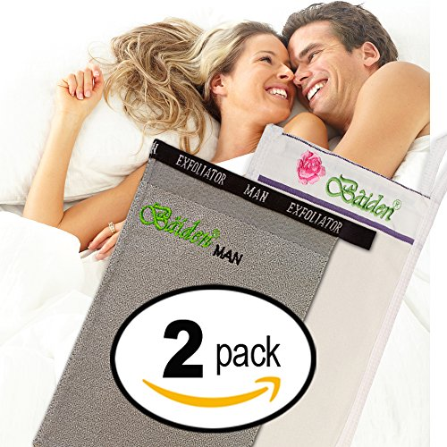 Rejuvenation Bundle, 2 Baiden Mittens for Him & Her. Powerful Anti-Aging Deep Exfoliation Treatment Boost Effectiveness of Creams, Serums and Lotions to Reduce Wrinkles, Lines, Sun & Age Spots