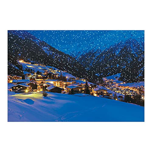 (Fun Express - Snow Village Backdrop Banner for Winter - Party Decor - Wall Decor - Preprinted Backdrops - Winter - 3 Pieces)