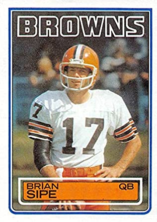 ffc98831abb1 1983 Topps Official NFL Football Card  257 Brian Sipe Cleveland Browns DP
