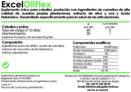 Excel OliFlex 1kg  Suplementos para Caballos  Salud Articular ...