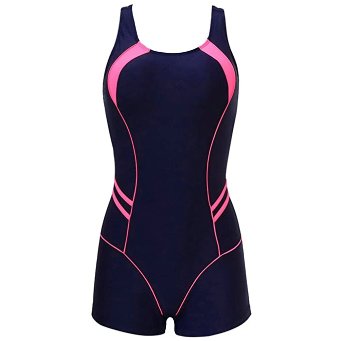 ebb9d19ca Image Unavailable. Image not available for. Color  Mywine Sports One Piece  Swimsuits Swimwear Women Shorts Backless Bathing Suits ...