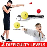 Boxing Ball on String, YMX Boxing Fight Ball Headband with Different Reaction Level Reflex Balls, Great Boxing Gear for Eye-Hand Coordination Training and Stress Relief, Suit for Pro Boxers and Kids
