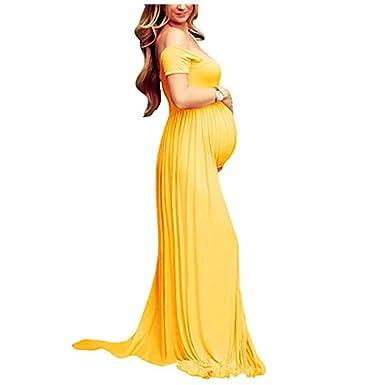 Vestido Larga Sexy Mujer Embarazada Vestido de Maternidad Photoshoot Dress Faldas Fotográficas de Maternidad Apoyos De Fotografía: Amazon.es: Ropa y ...